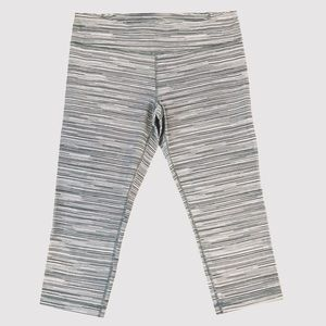 Under Armour Grey Striped Workout leggings